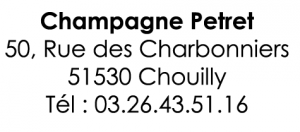 champagne petret ecriture