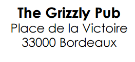 the grizzly ecriture